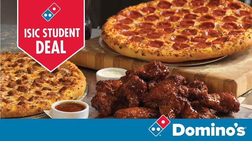 Studierabat på pizza hos Dominos -15 %